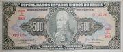 500 Cruzeiros (1st edition; 2nd print; Valor Recebido) -  avers