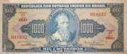 1000 Cruzeiros (1st Print; Tesouro Nacional; Valor Legal) – avers
