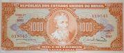 1000 Cruzeiros (2nd Print; Tesouro Nacional; Valor Legal) – avers