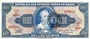 1 Cruzeiro Novo (Stamp on 1,000 Cruzeriro) – avers