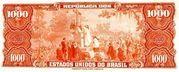 1 Cruzeiro Novo (Stamp on 1,000 Cruzeriro) – revers