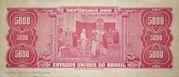 5000 Cruzeiros (1st Print; Tesouro Nacional) – revers