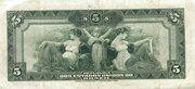 Verified sheet, non verified year listXX 5 Mil Réis (Thesouro Nacional; 14th print) – revers
