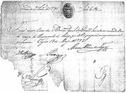 Diamond production payment (handwritten) – avers