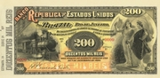 200 Mil Réis (Banco da República dos Estados Unidos do Brazil; 1st print) -  avers
