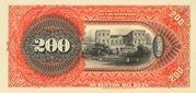 200 Mil Réis (Banco da República dos Estados Unidos do Brazil; 1st print) -  revers