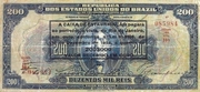200 Mil Réis (overprint on 200 Mil Réis 16th print i.e. P# 81) – avers
