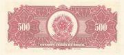 500 Mil Réis (overprint on 500 Mil Réis 14th print i.e. P# 91) – revers