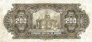 200 Cruzeiros (overprint 200 Mil Réis [P# 81b and P# 81c]) -  revers