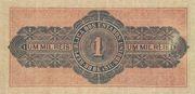 1 Mil Réis (Thesouro Nacional; 11th print) – revers