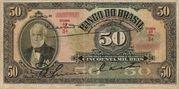 50 Mil Réis (4th Bank of Brazil; 2nd print) -  avers