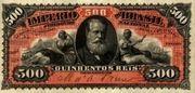 500 Réis (Thesouro Nacional; 2nd print) – avers