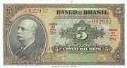 5 Mil Réis (4th Banco do Brasil; 2nd print) -  avers
