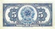 5 Mil Réis (4th Banco do Brasil; 2nd print) -  revers