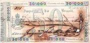 50 Mil Réis (Thesouro Nacional; Copper coin exchange) -  avers