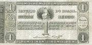 1 Mil Réis (Thesouro Nacional; 1st print) – avers
