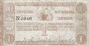 1 Mil Réis Thesouro Nacional; 2nd print – avers