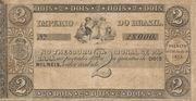 2 Mil Réis (Thesouro Nacional; 2nd print) -  avers