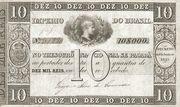 10 Mil Réis (Thesouro Nacional; 1st print) -  avers