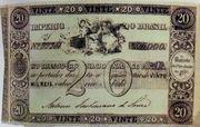20 Mil Réis (Thesouro Nacional; 1st print) -  avers