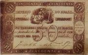 50 Mil Réis (Thesouro Nacional; 1st print) -  avers