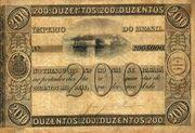 200 Mil Réis (Thesouro Nacional; 1st print) -  avers