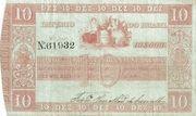 10 Mil Réis (Thesouro Nacional; 3rd print) – avers