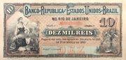 10 Mil Réis (Banco da República dos Estados Unidos do Brazil; 1st print) – avers