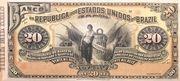 20 Mil Réis (Banco da República dos Estados Unidos do Brazil; 1st print) -  avers