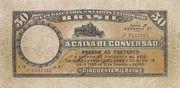 50 Mil Réis (Caixa de Conversão; 2nd print) -  avers