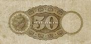 50 Mil Réis (Caixa de Conversão; 2nd print) -  revers