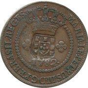 20 réis - Maria I & Pedro III (Contremarquée 10 réis) – avers