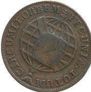 20 réis - Maria I & Pedro III (Contremarquée 10 réis) – revers