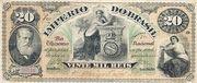 20 Mil Réis (Tesouro Nacional; 7ª Estampa) (1878) -  avers