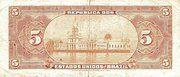 5 Mil Réis (Tesouro Nacional; 13ª Estampa) (1908) – revers