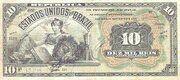 10 Mil Réis (Tesouro Nacional; 11ª Estampa) (1907) – avers