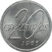 20 cruzeiros - Carte du Brésil -  revers