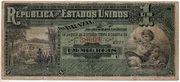 1 Mil Réis (7th Print; Tesouro Nacional; Republic) – avers