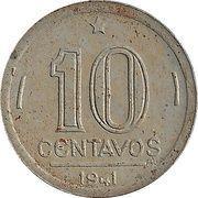 10 Centavos (Trial Strike; Getúlio Vargas) – revers