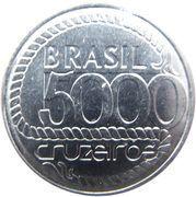 5000 cruzeiros (200 ans de la mort de Tiradentes) -  revers