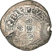 75 réis Afonso VI (contremarquée sur 1 real) – avers