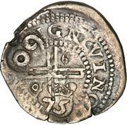 75 réis Afonso VI (contremarquée sur 1 real) – revers