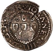 75 réis - João IV (contremarquée sur ½ tostão) – avers