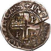 75 réis - João IV (contremarquée sur ½ tostão) – revers