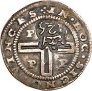 125 réis - João IV (contremarquée sur 1 tostão) – revers