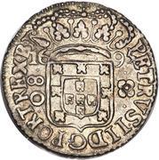 80 réis - Pedro II (grande couronne) – avers