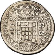 160 réis - Pedro II (petite couronne) – avers