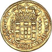 2000 réis - Pedro II – avers