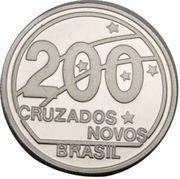 200 cruzados (Centenaire de la République) – revers