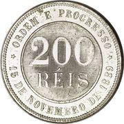 200 réis - Croix du Sud -  revers